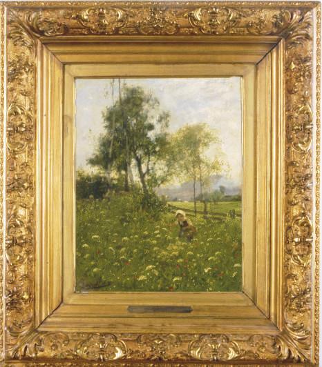 A girl in a field of wildflowers