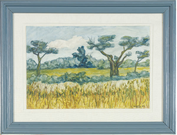 Landscape with trees receding in the distance