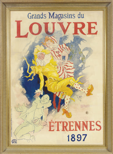 A LITHOGRAPH IN COLORS, 'LOUVRE ETRENNES 1897',