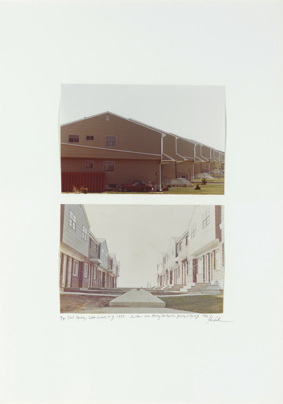 top: Tract Housing, Staten Island, N.Y. 1978 bottom: New Housing Development, Jersey City, N.Y. 1966