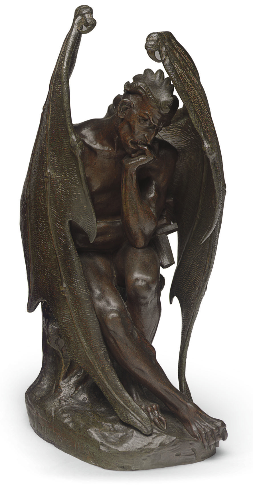 A FRENCH BRONZE FIGURE OF SATAN