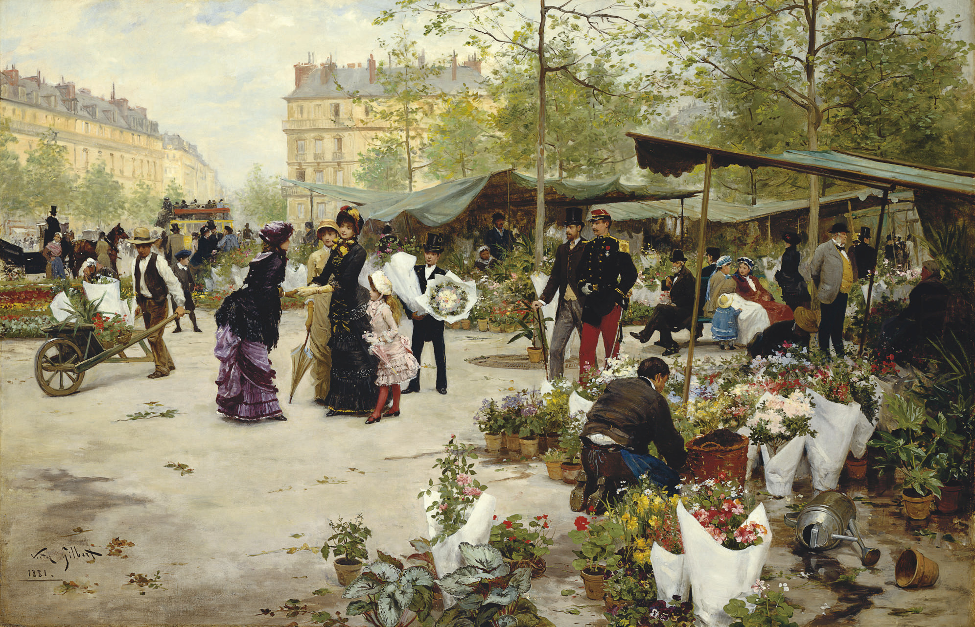 The Lower Market, Paris