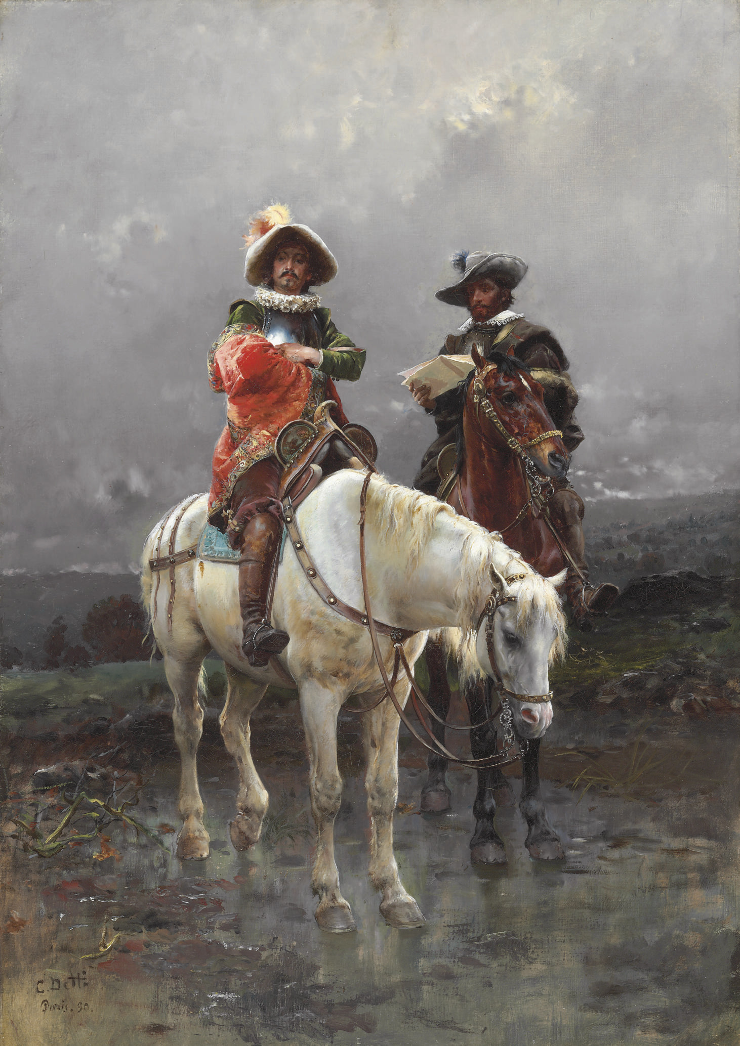 A Cavalier on a White Horse
