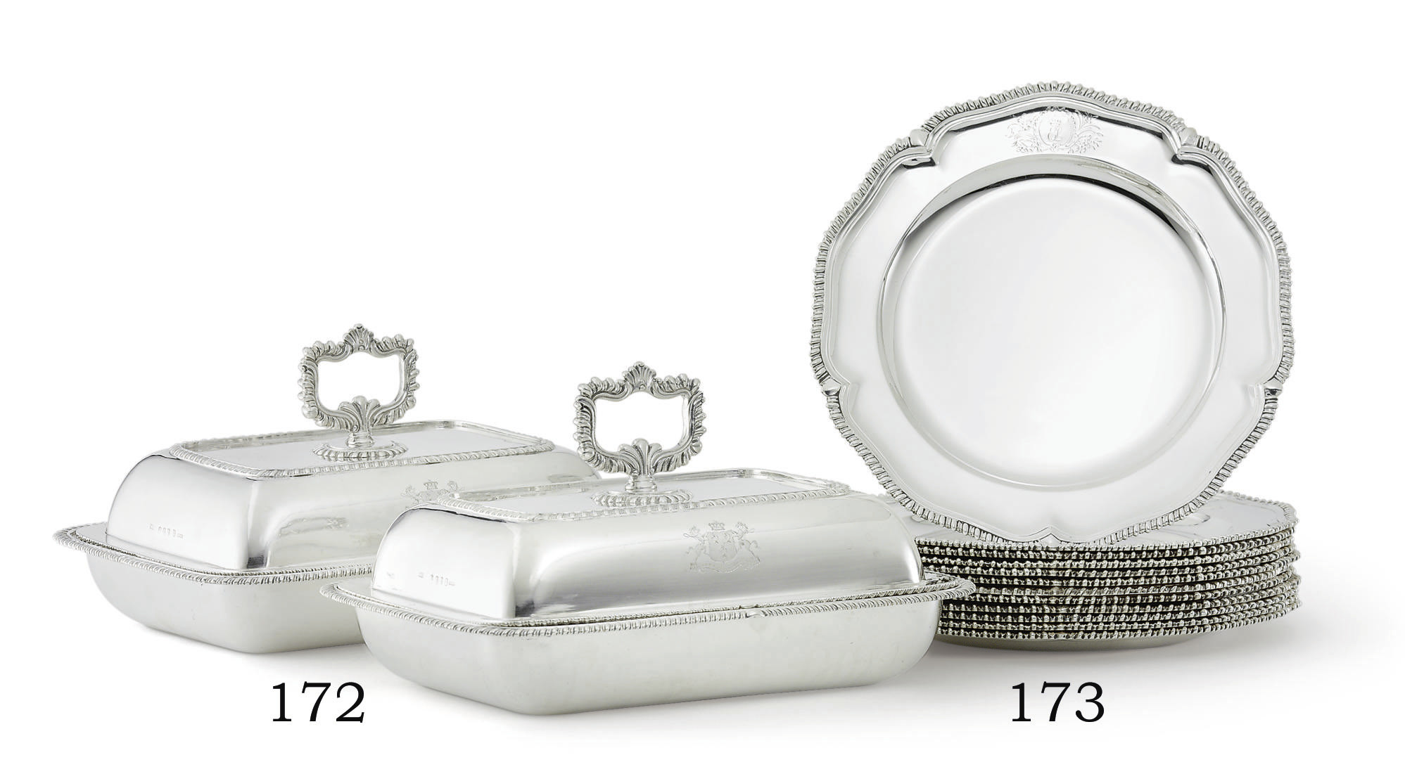 A PAIR OF REGENCY IRISH SILVER ENTREE DISHES
