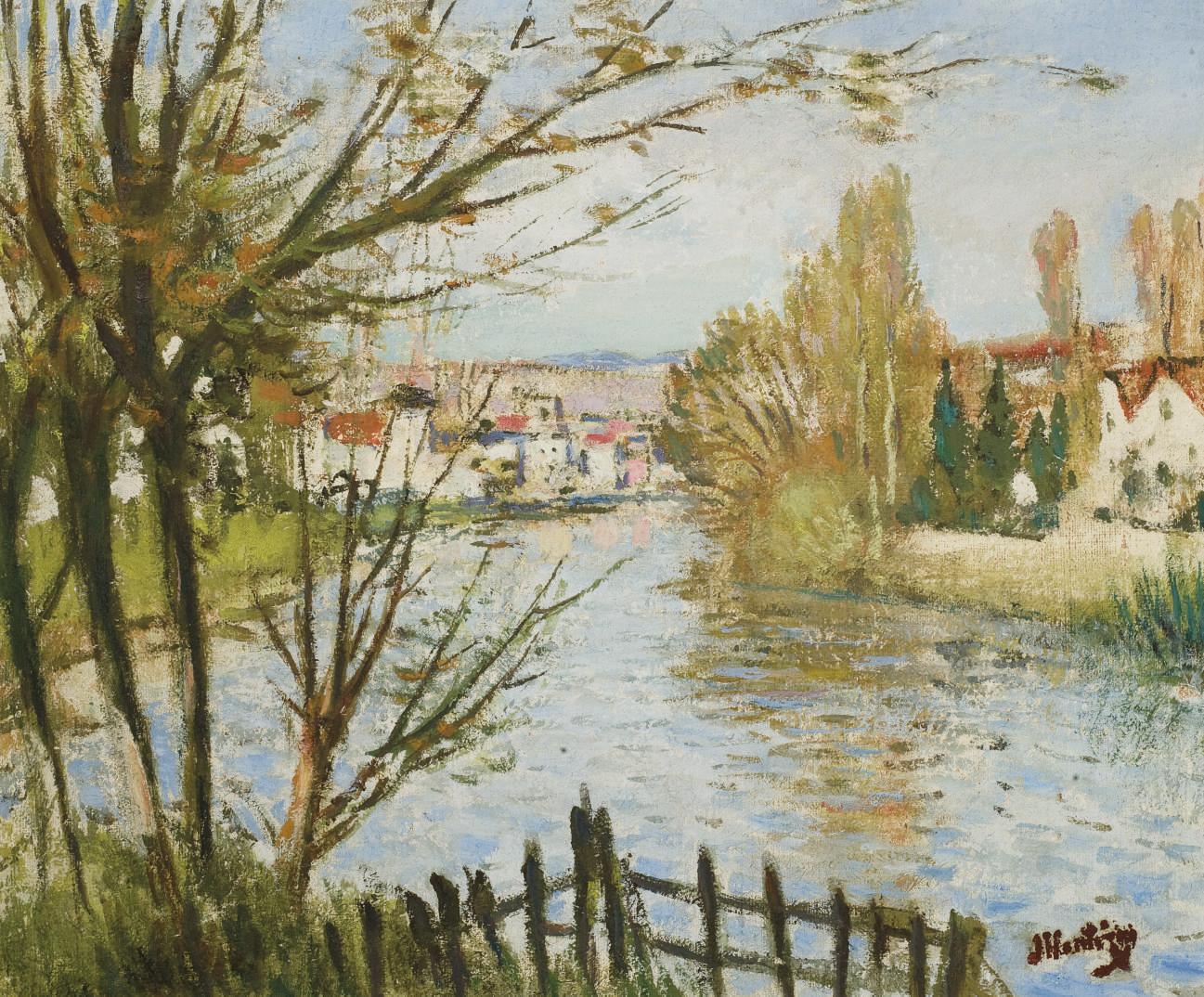 Village au bord de la rivière