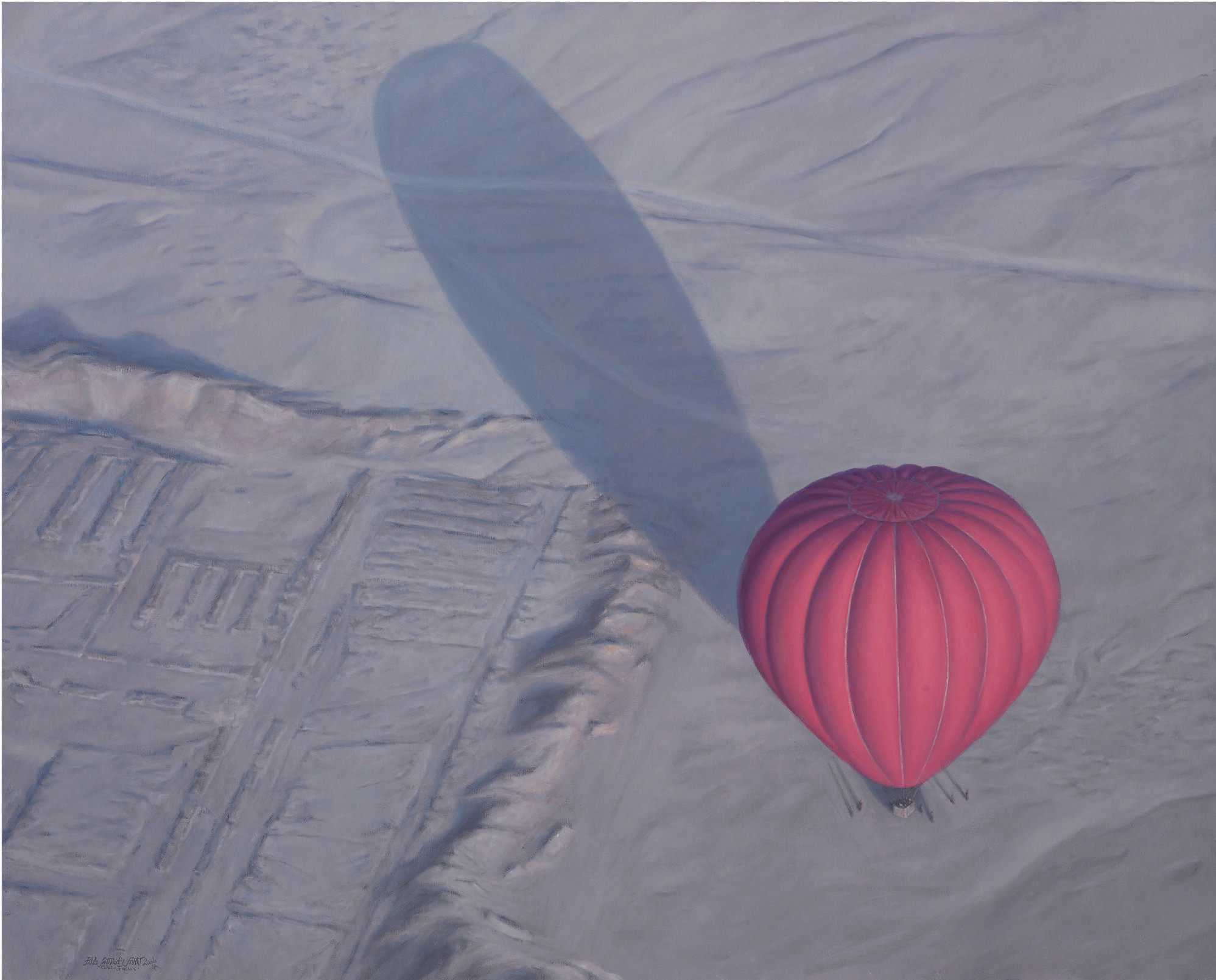 Red Balloon Over Sahara