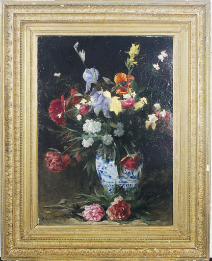 Bouquet of Irises, Poppies and Peonies