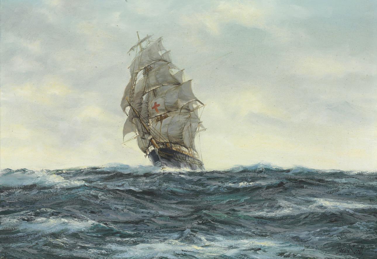 American Clipper Dreadnought in an ocean breeze
