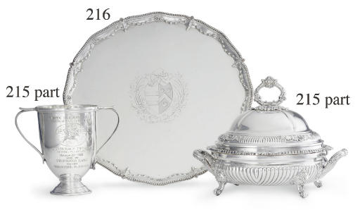 A GEORGE III SILVER TROPHY SALVER: WON BY PROMISED LAND