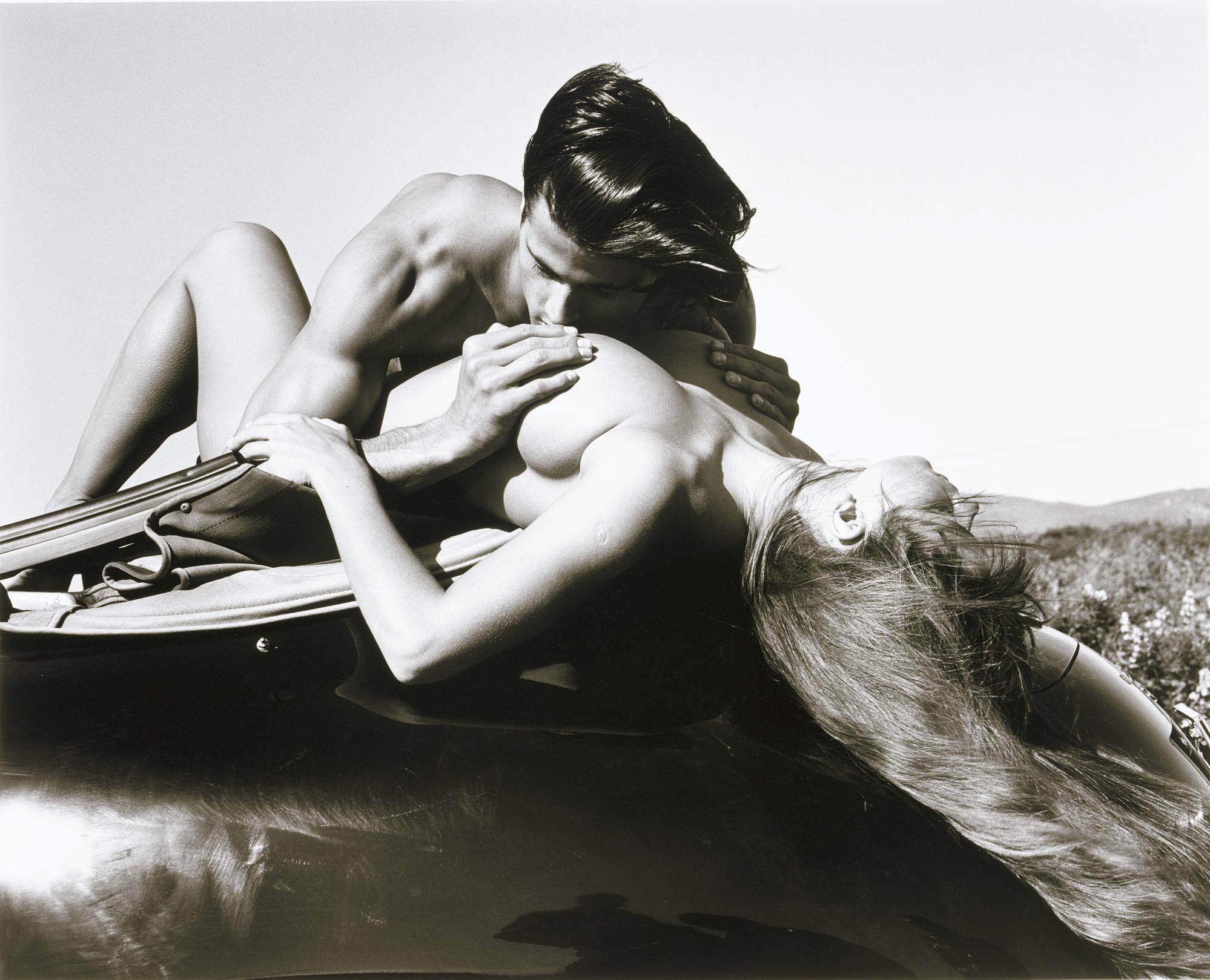 On Top of the Porsche, Lisamarie and John, Santa Barbara, 1989