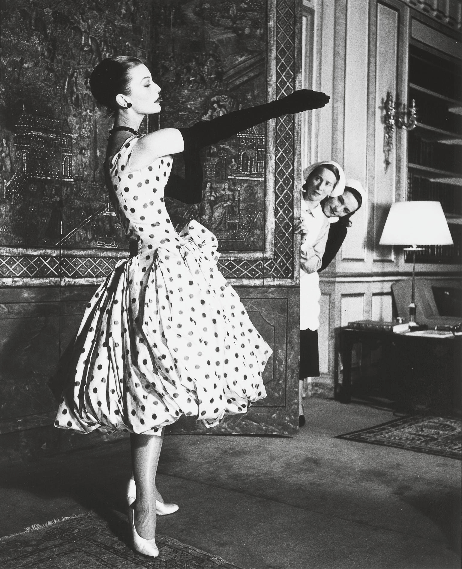 Mary Jane Russell in Dior Dress, Paris, 1950