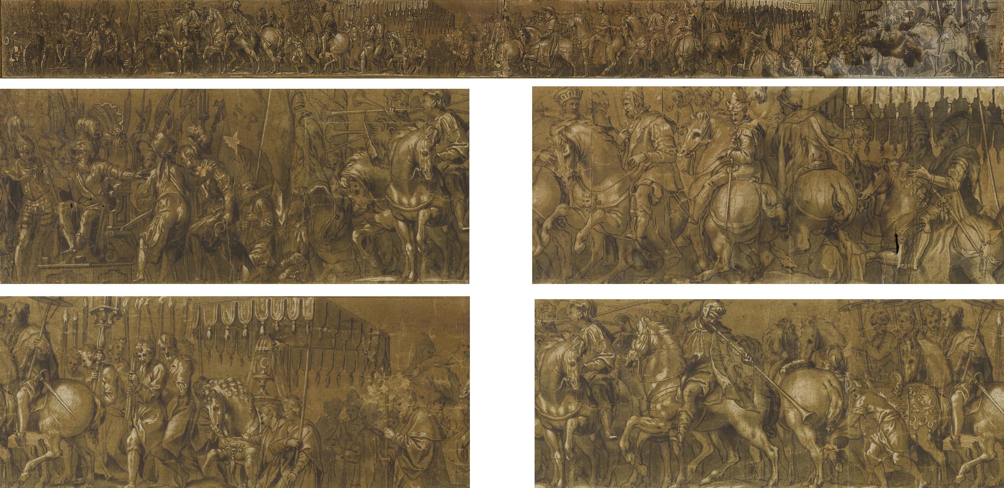Cortège triomphal à l'occasion du couronnement de l'empereur Charles V par le pape Clément VII