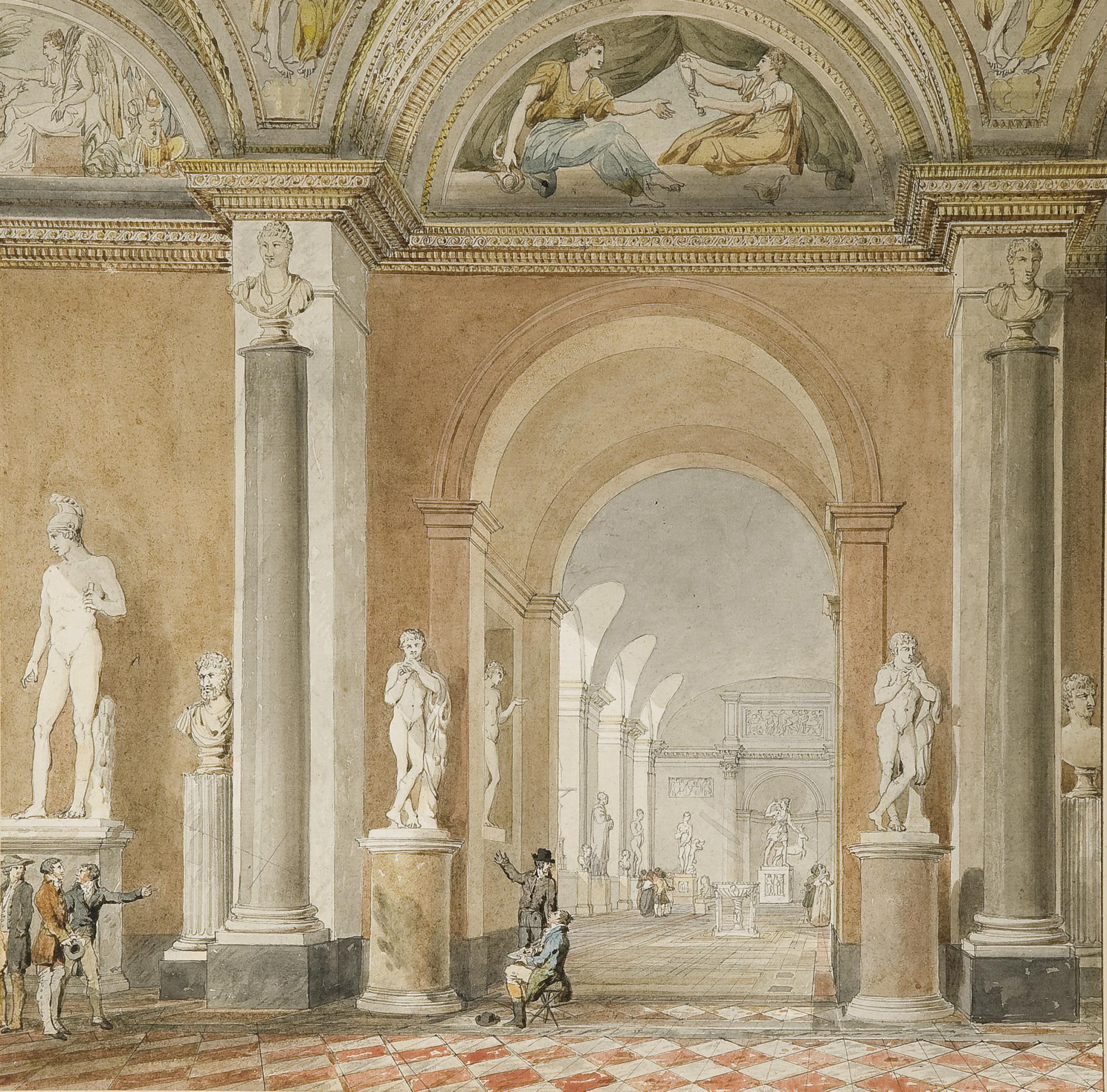 L'ancienne salle de l'Apollon du Belvédère au Louvre
