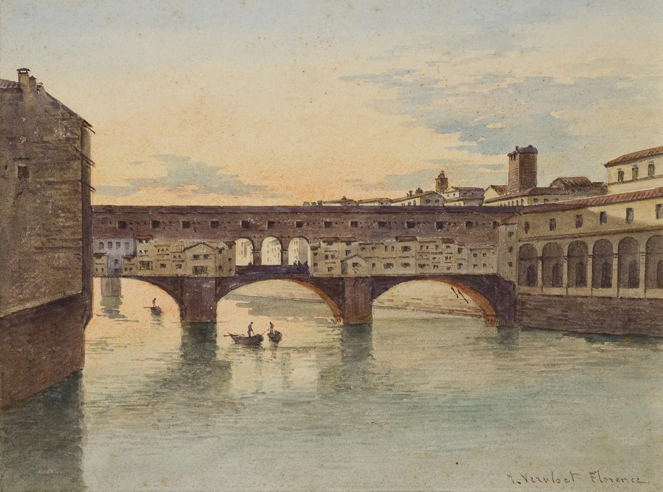 Vue du Ponte Vecchio à Florence