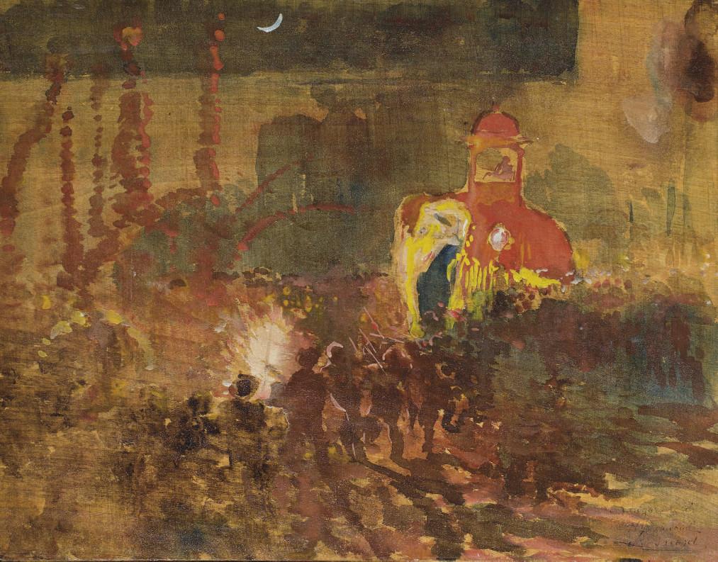 Festival nocturne à Haiderabad, Inde