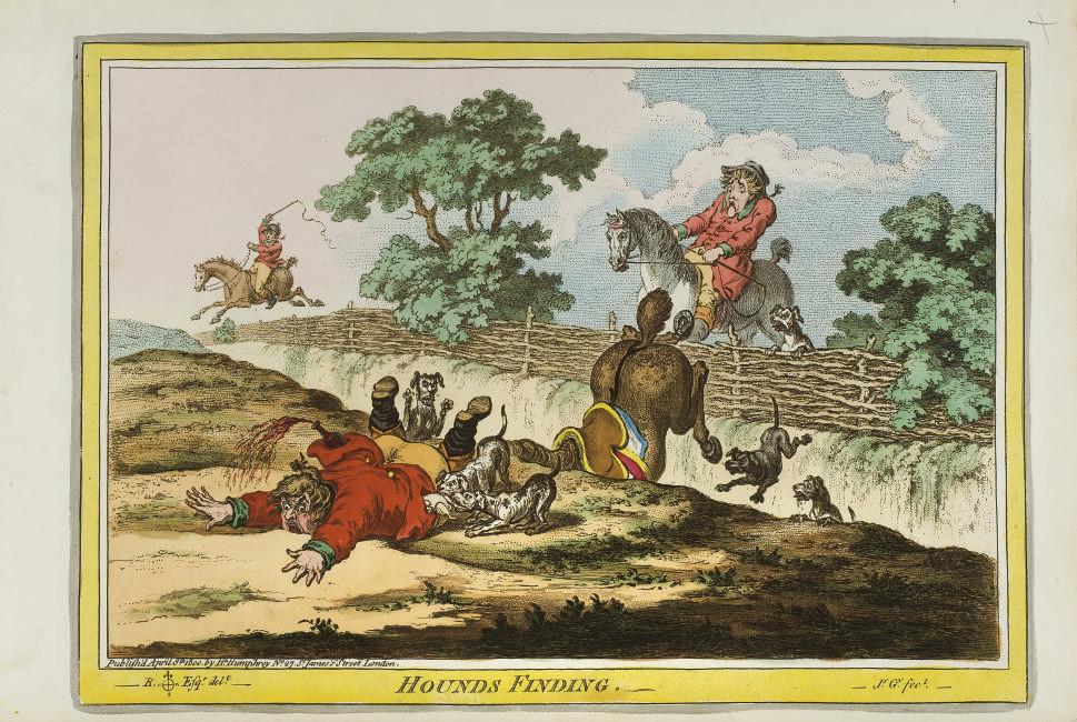 GILLRAY, James (1757-1815) et d'autres. Album composite contenant 79 gravures et lithographies de James Gillray, George Cruikshank, Horace Vernet, et d'autres artistes.