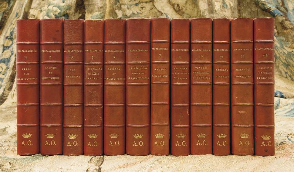[ANTOINE D'ORLÉANS] -- CHATEAUBRIAND, François-René de (1768-1848). Oeuvres complètes. Paris: Furne & Jouvet, s.d. [1859-1862].