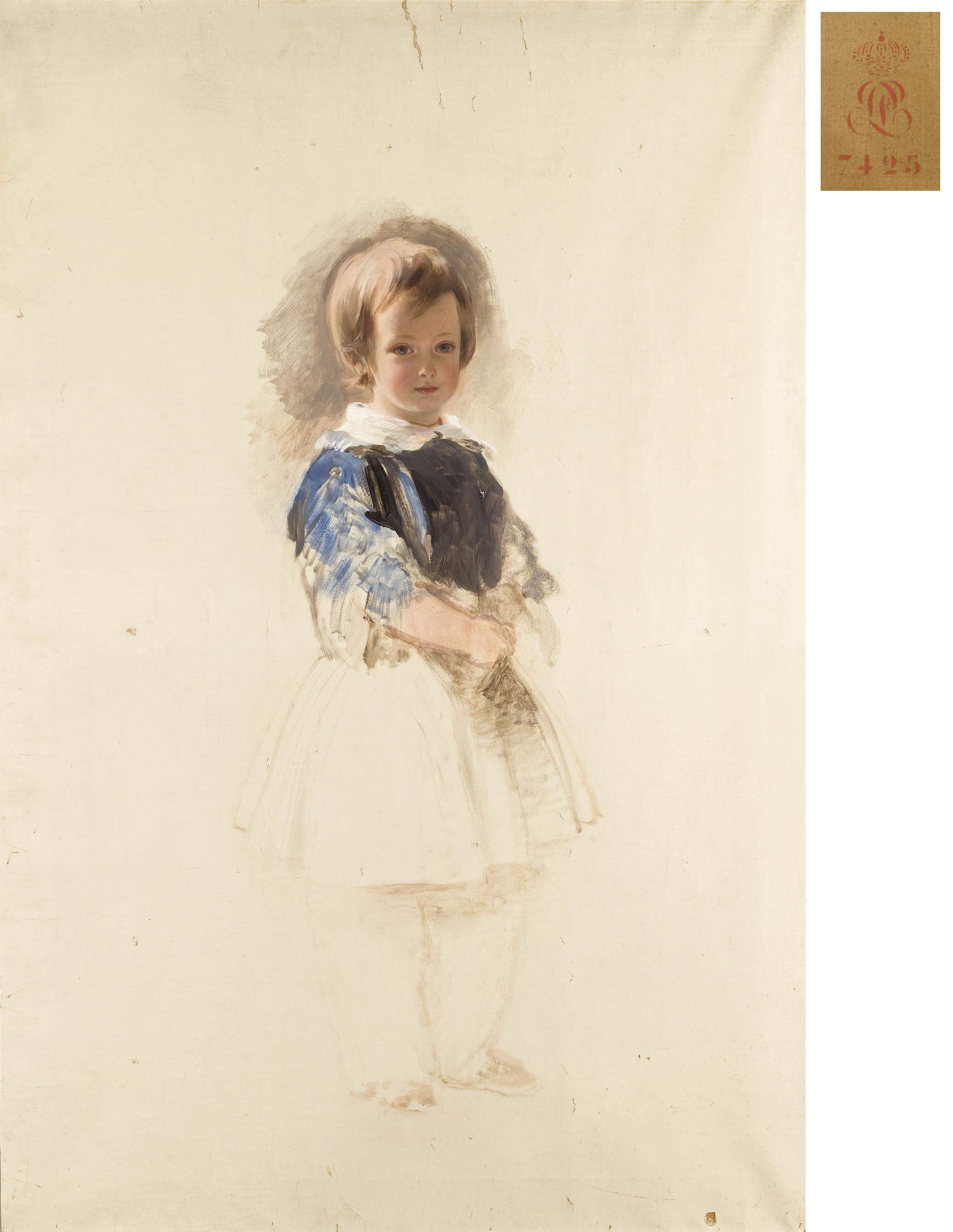 Esquisse pour le portrait de Louis-Philippe, premier Comte de Paris (1838-1894) enfant