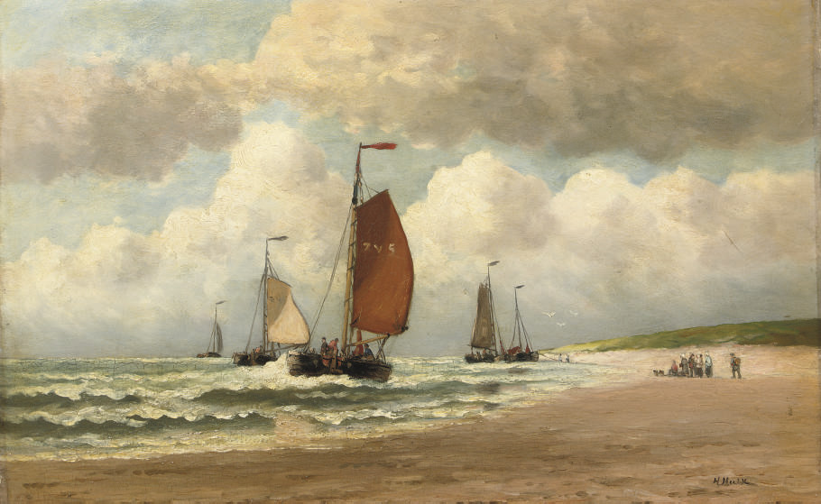The arrival of the fishing fleet
