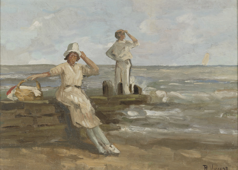 A windy day on the beach