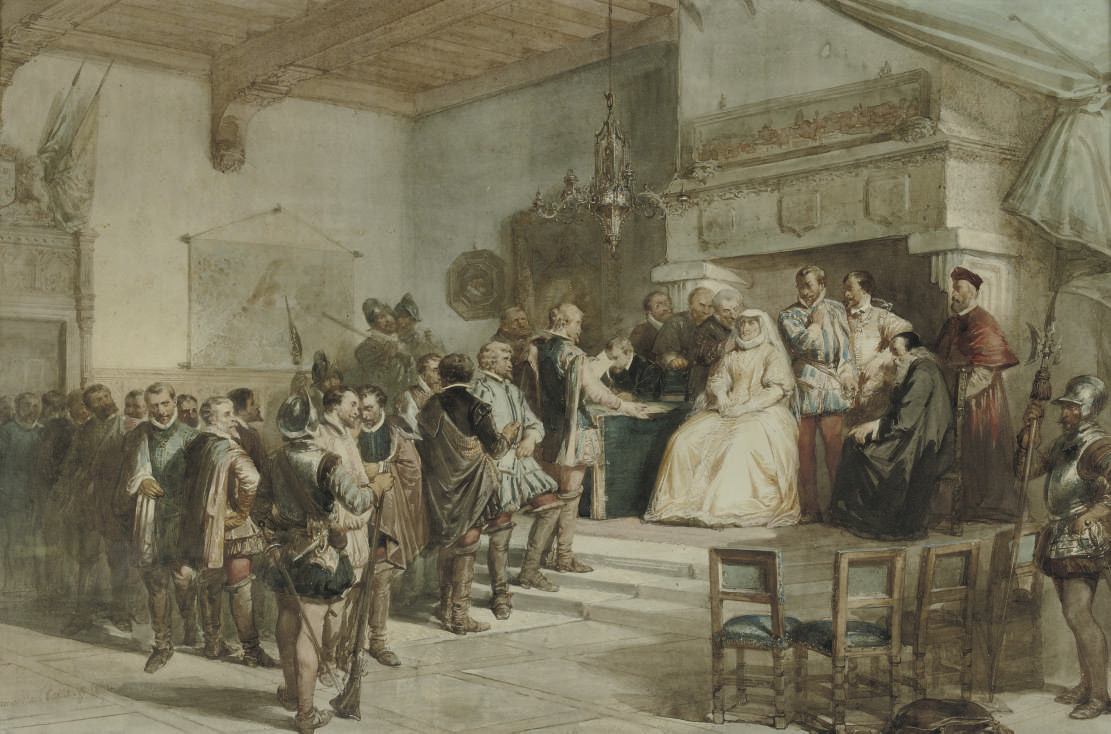 Margaret, Duchess of Parma, receiving the nobility