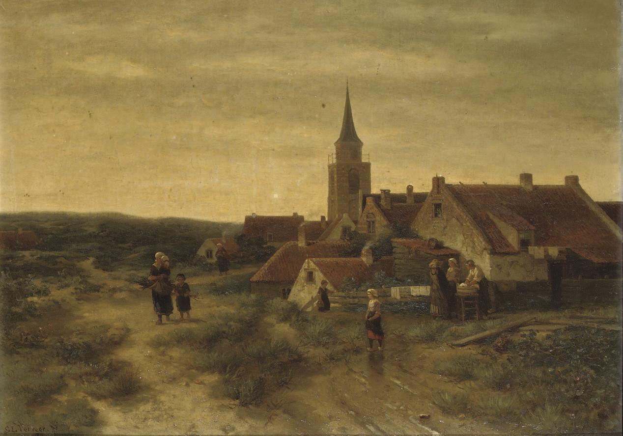 Figures in the dunes of Scheveningen