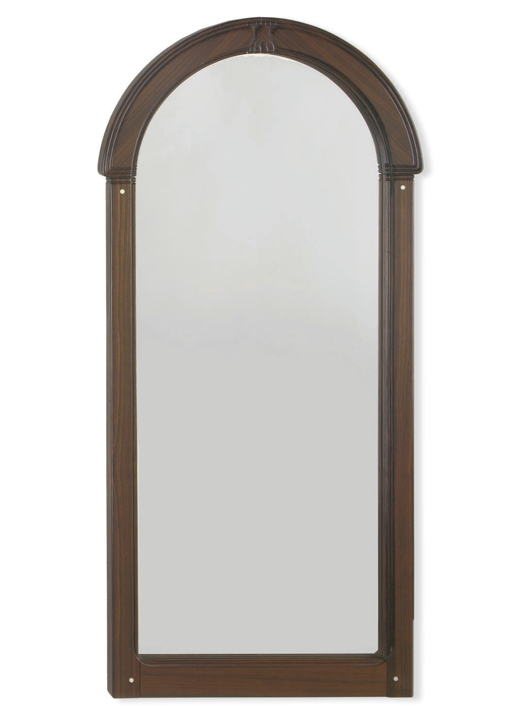 A DUTCH ART NOUVEAU ROSEWOOD AND IVORY MIRROR