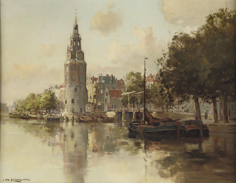 A view of the Montelbaantoren, Amsterdam
