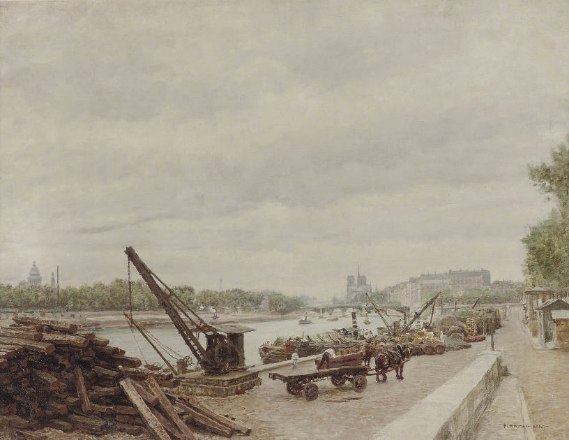 Activities on the quay of Ille St. Louis, Paris