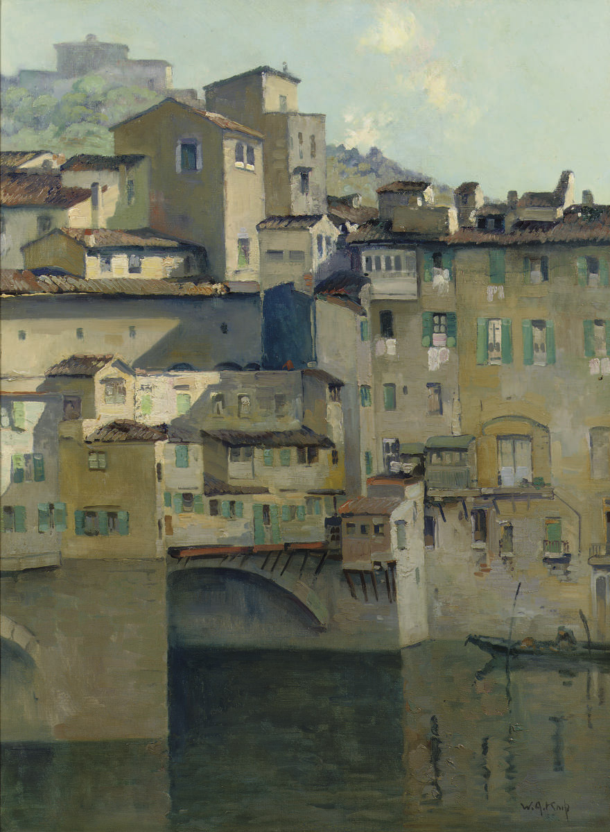 Ponte Vecchio seen from the water, Florence