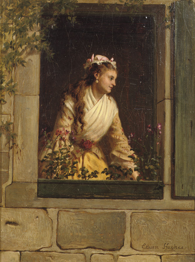 A girl in a window