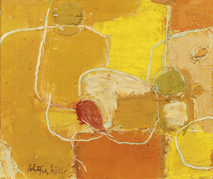 Composition in orange and yellow