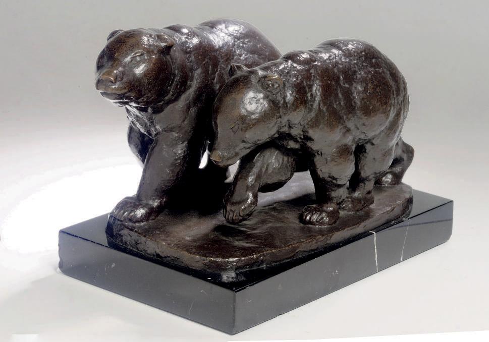 Laufende Bären: two walking bears