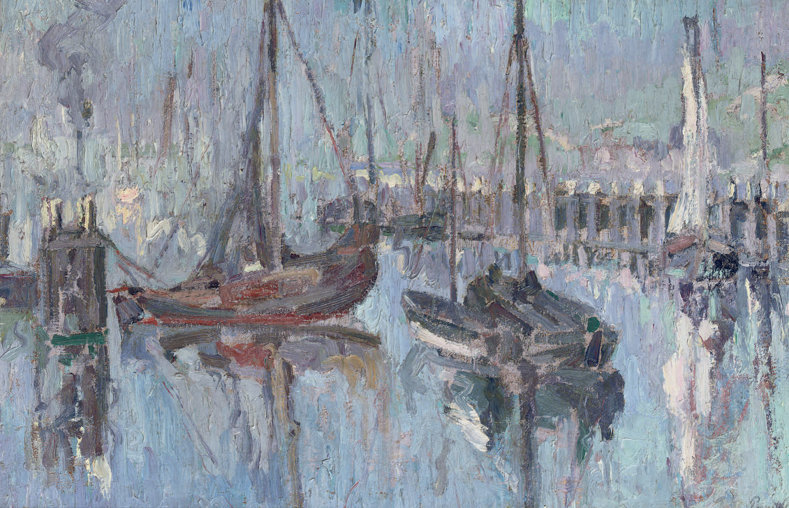 Sailing vessels in a harbour