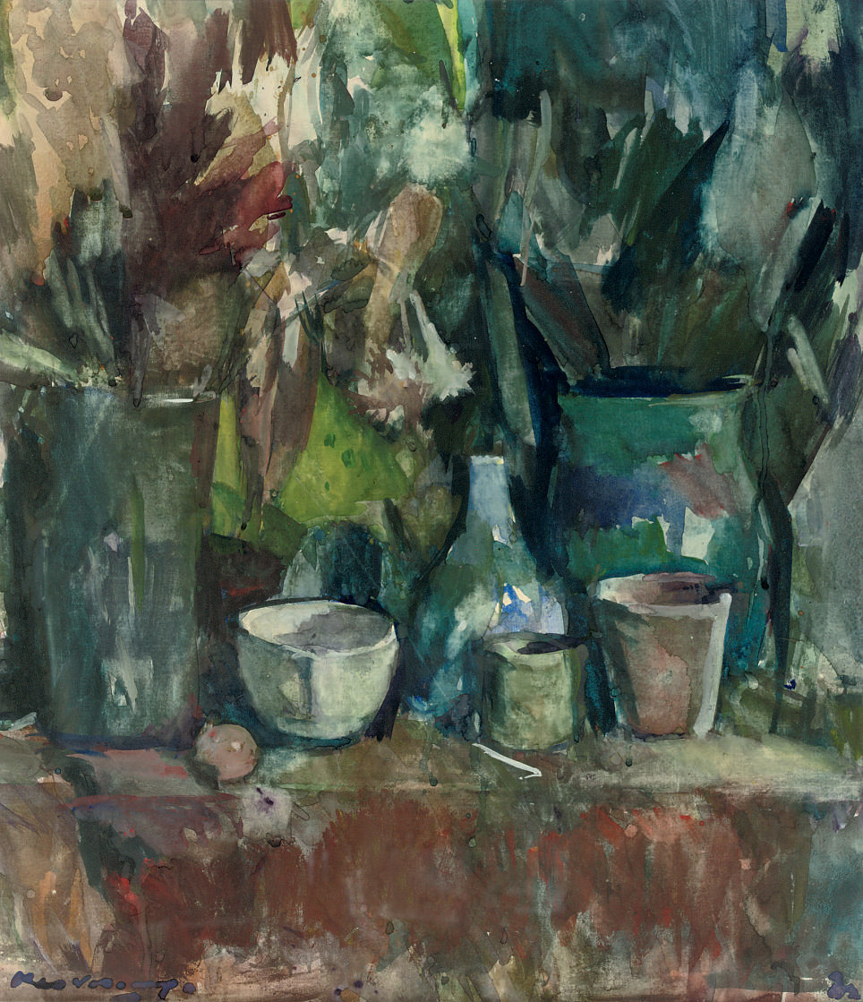 A corner in the artist's studio