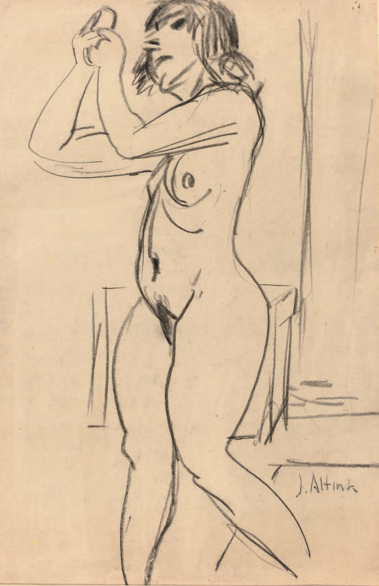 Beppie (recto); a sketch of a nude (verso)