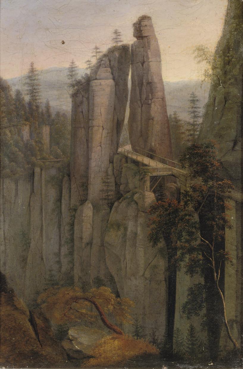 A bridge in the Sächsische Schweiz, Germany