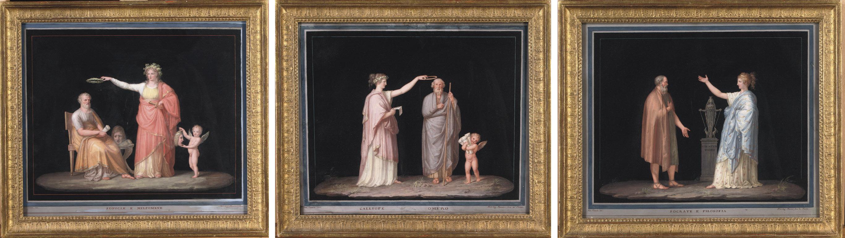 Sofocle e Melpone; Socrate e Filosofia; Calliope Omero