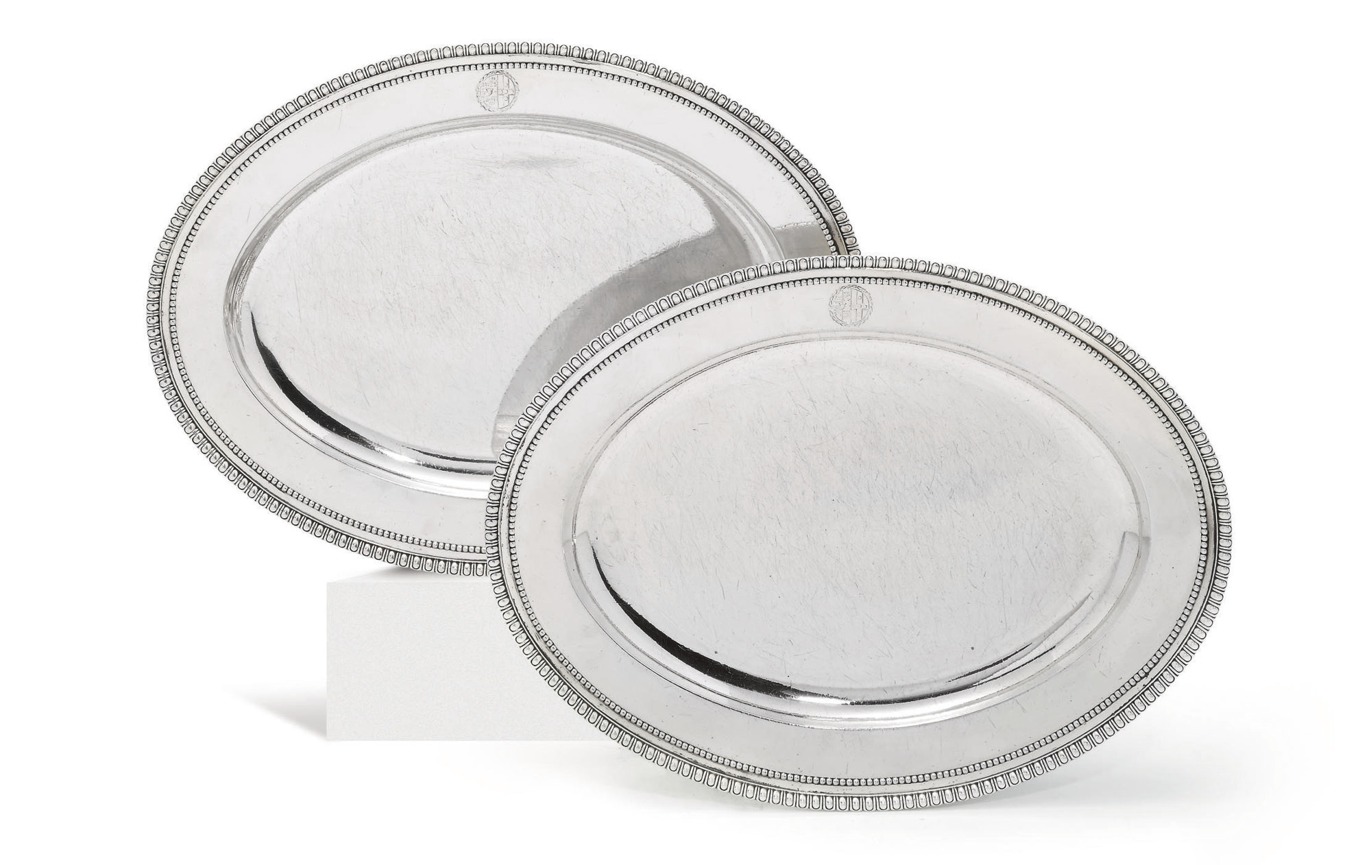 A PAIR OF GEORGE III SILVER MEAT-DISHES FROM THE WATKIN WILLIAMS-WYNN SERVICE ORDERED FOR 20 ST. JAMES'S SQUARE