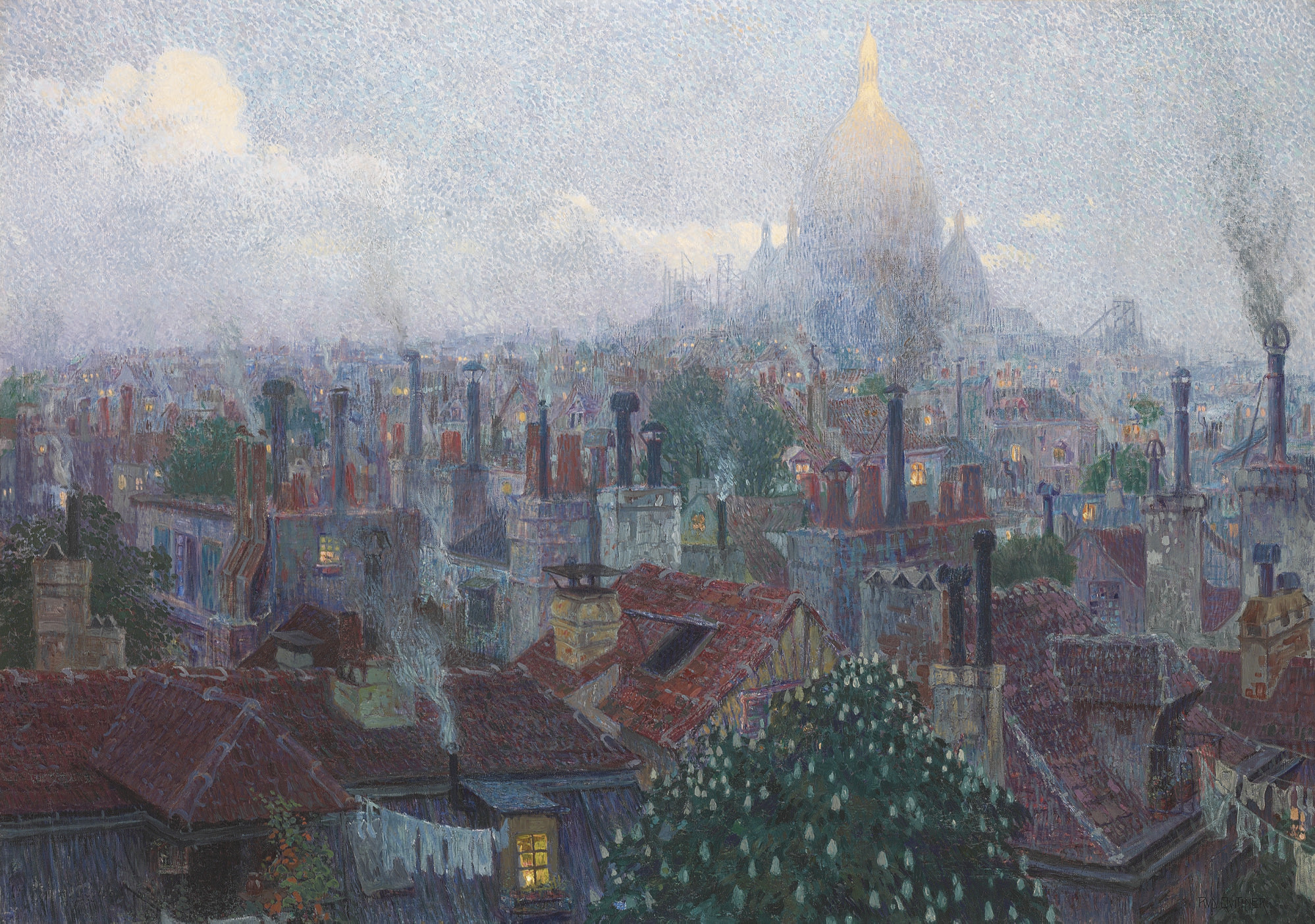 View of the Sacre Coeur from Montmartre, Paris