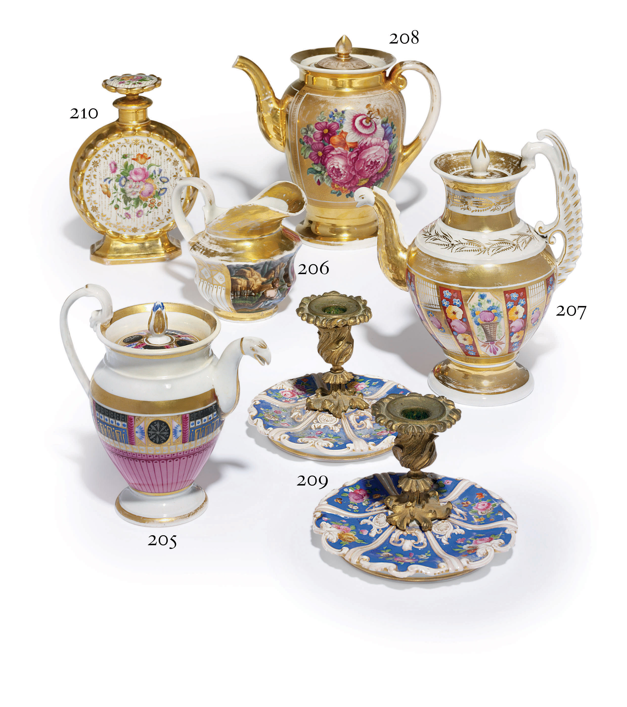 A Rare Porcelain Covered Tea-Pot
