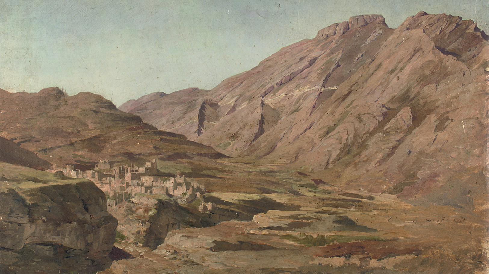 A mountain village in the Caucasus