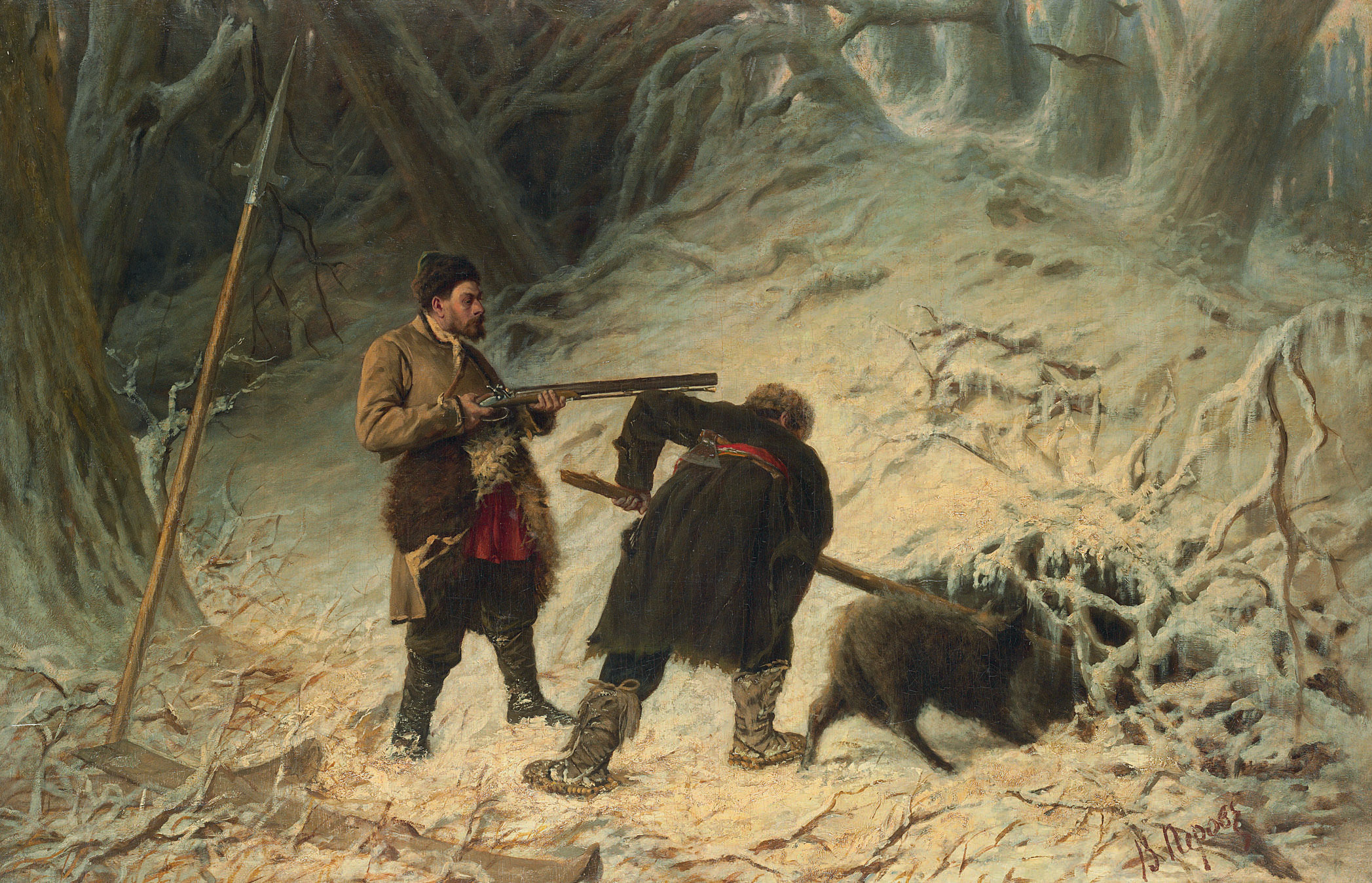 Hunting for boar