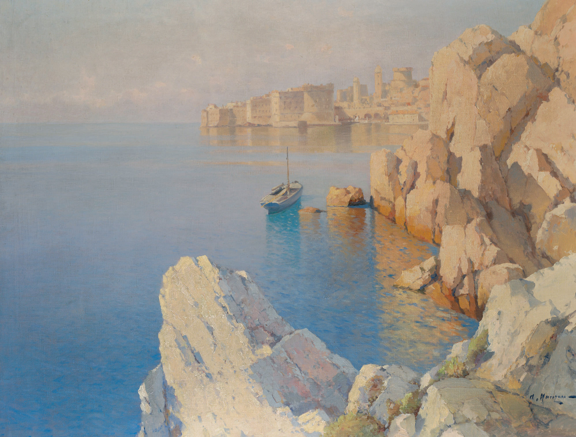 View of a harbour, Dubrovnik