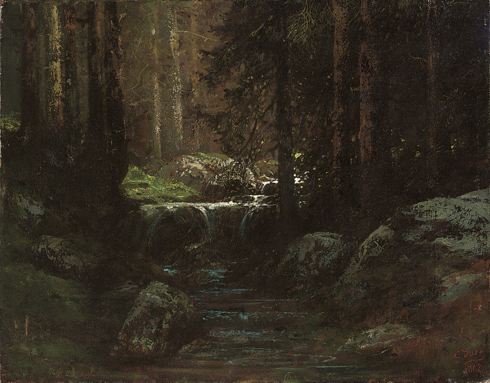 A stream in the forest of Fontainbleau
