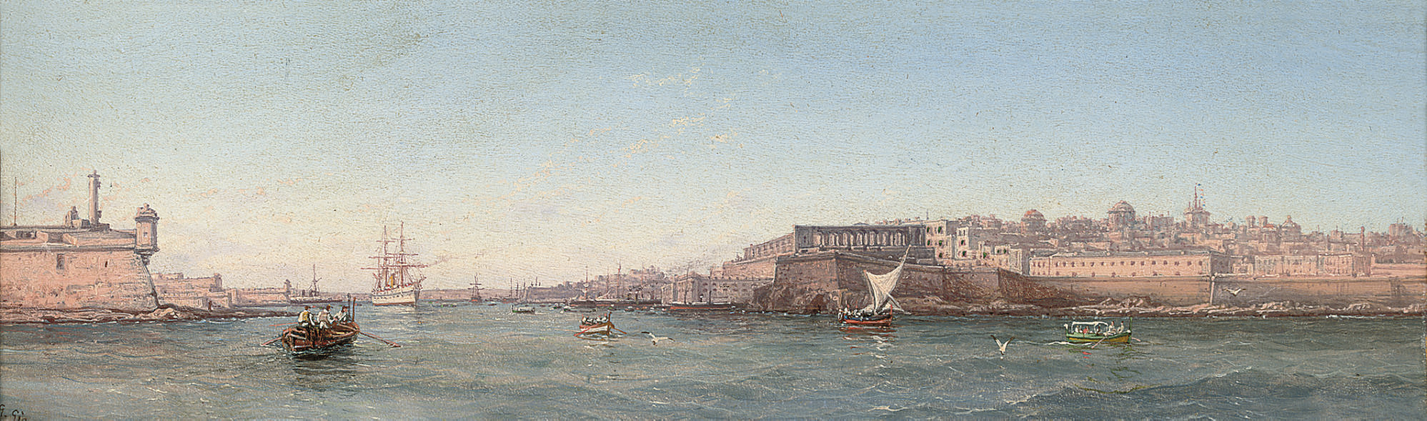 The entrance to the Grand Harbour from Ricasoli point, Valetta