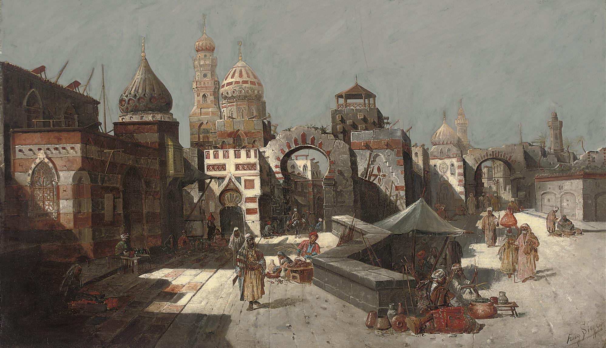 Traders at the city gates