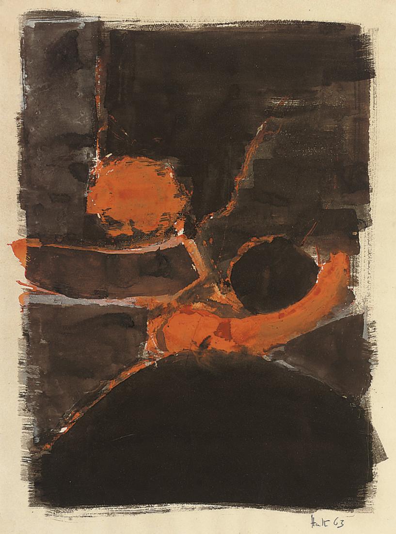 Black and Orange Composition