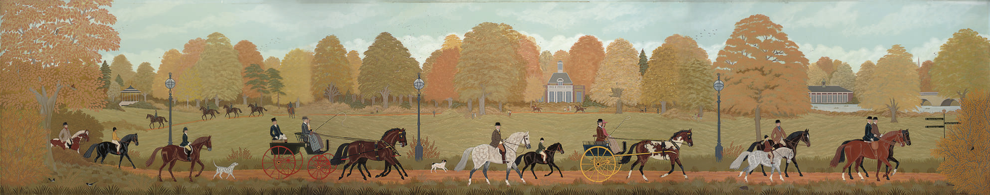 A procession through Hyde Park, a triptych