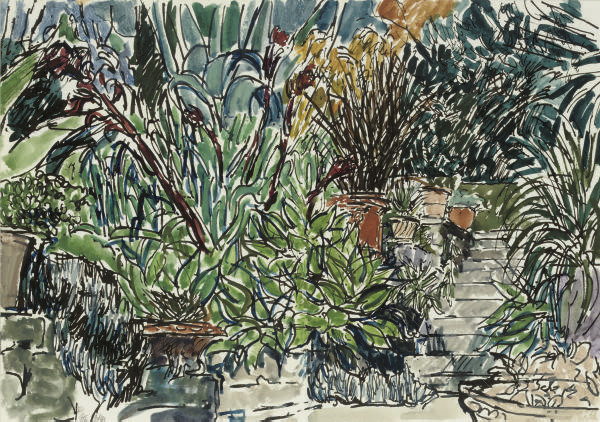 The garden; The garden stairs; A corner of the garden; and The garden wall